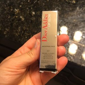 NWT Dior addiction lip glow balm in raspberry